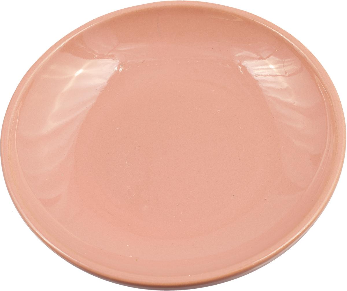 """Блюдце Борисовская керамика """"Радуга"""", цвет: розовый, диаметр 10 см"""