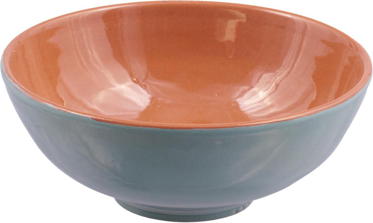 Салатник Борисовская керамика Удачный, цвет: бирюзовый, коричневый, 450 мл удачный обмен