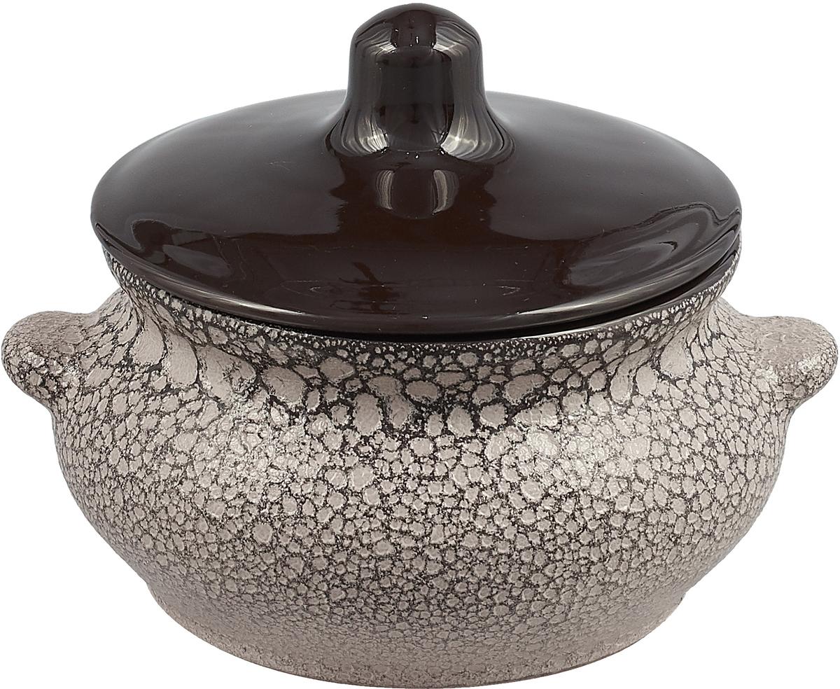 Горшок для жаркого Борисовская керамика Лакомка, с ручками, 0,5 л. СТР00000360 горшочек для жаркого борисовская керамика русский мрамор