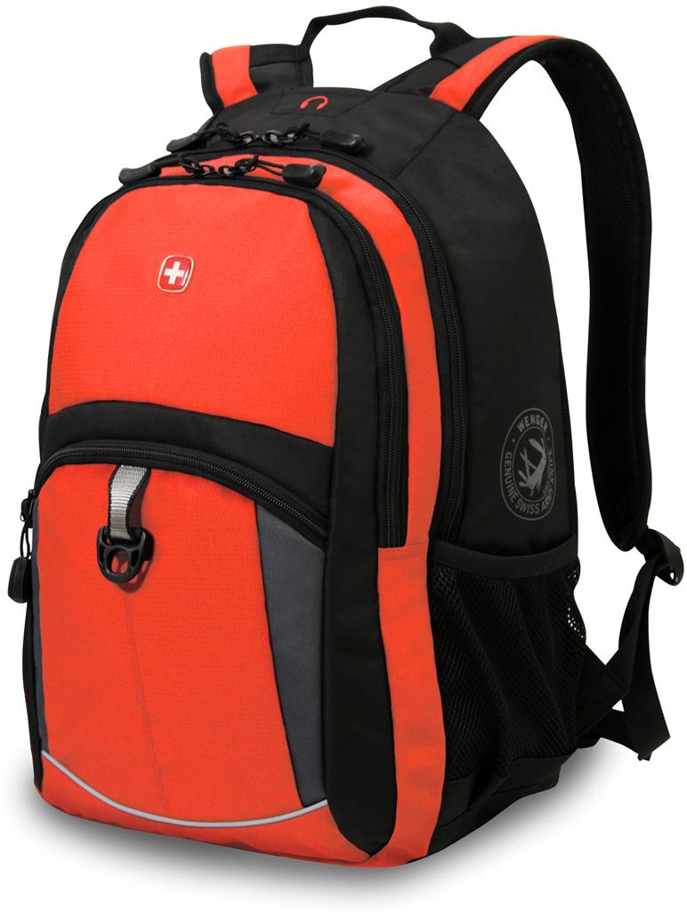 Рюкзак городской Wenger, с отделением для ноутбука 15, цвет: оранжевый, черный, 22 л рюкзак городской husky nexy цвет оранжевый 22 л