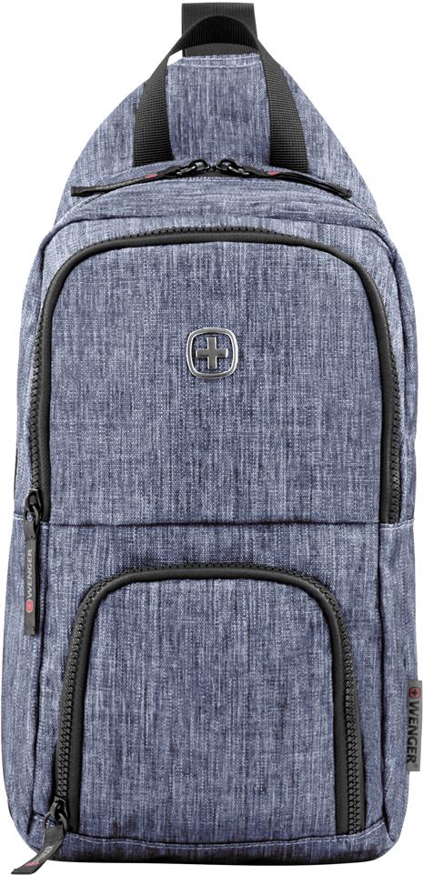 Рюкзак городской Wenger Console, с одним плечевым ремнем, цвет: синий, 8 л рюкзаки wenger 17222315