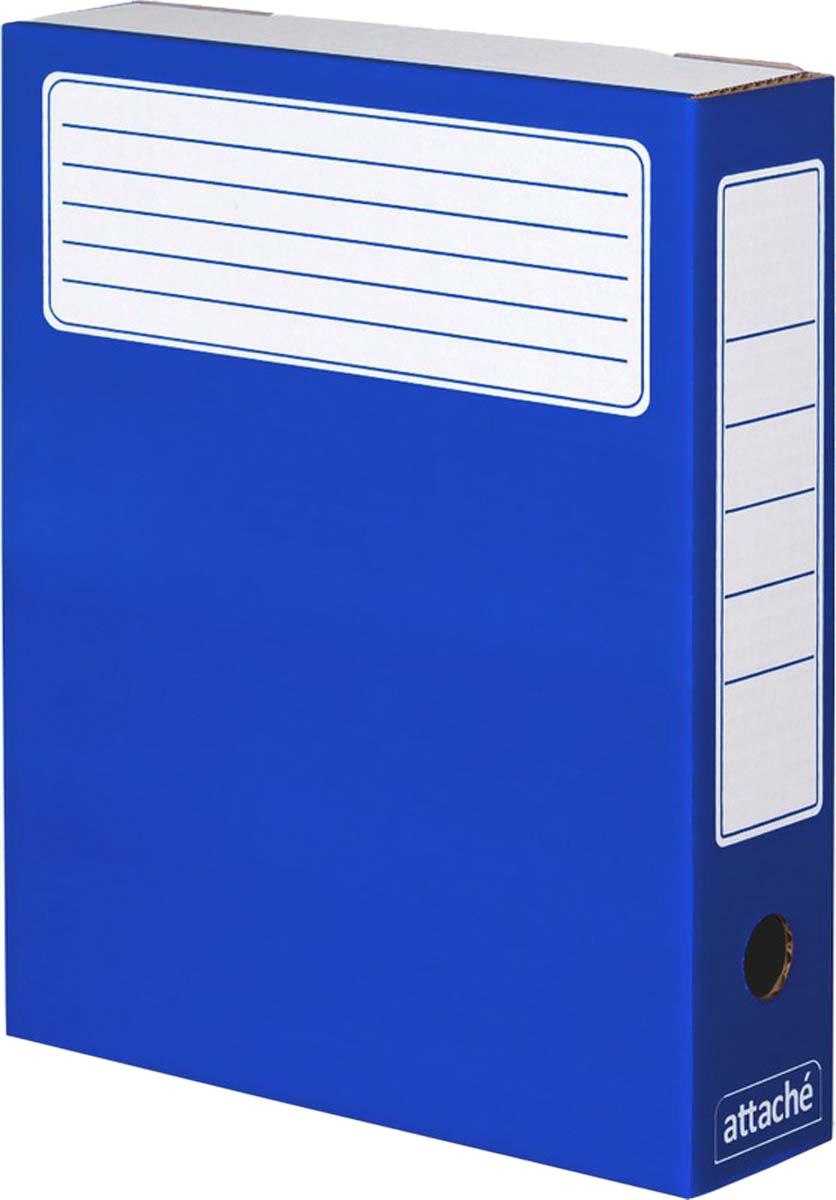 Attache Папка-регистратор А4 обложка 75 мм цвет синий 5 шт