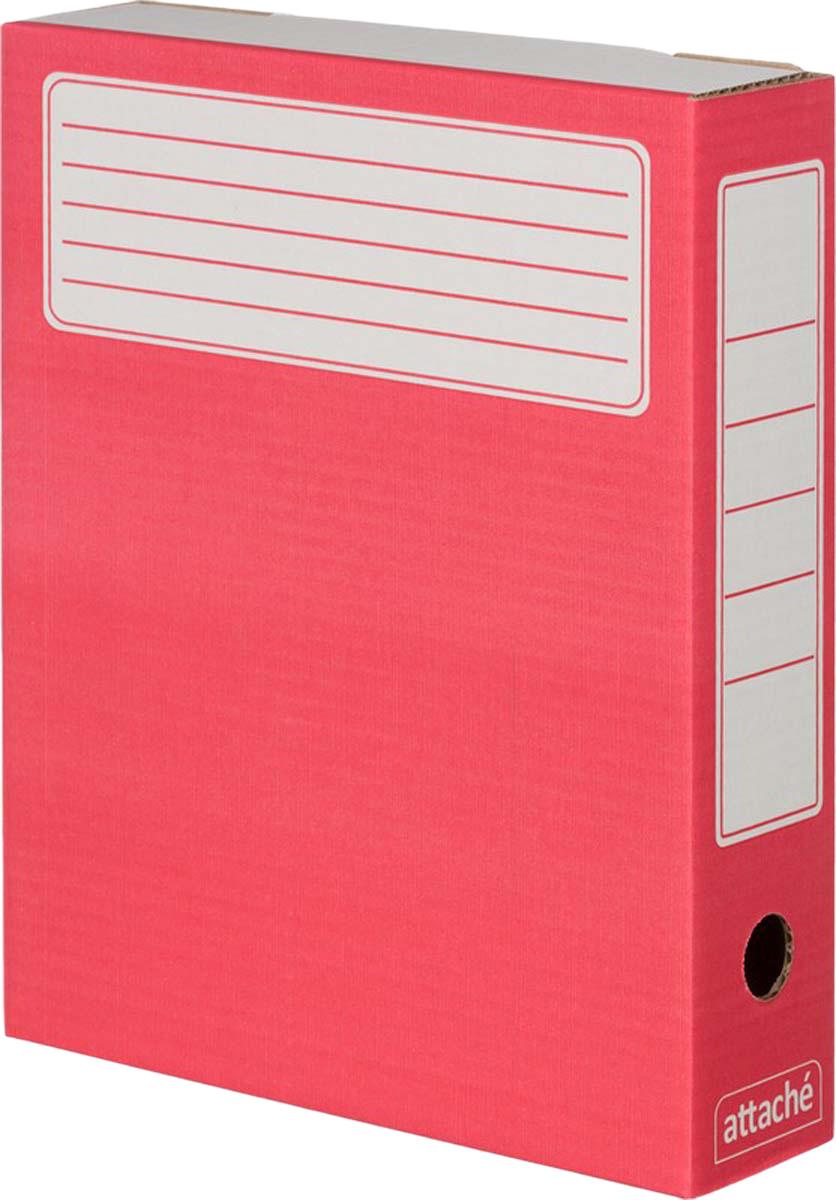 Attache Папка-регистратор А4 обложка 75 мм цвет красный 5 шт