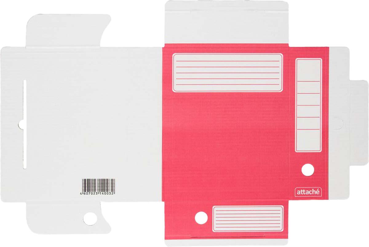 AttacheПапка-регистратор А4 обложка 75 мм цвет красный 5 шт Attache