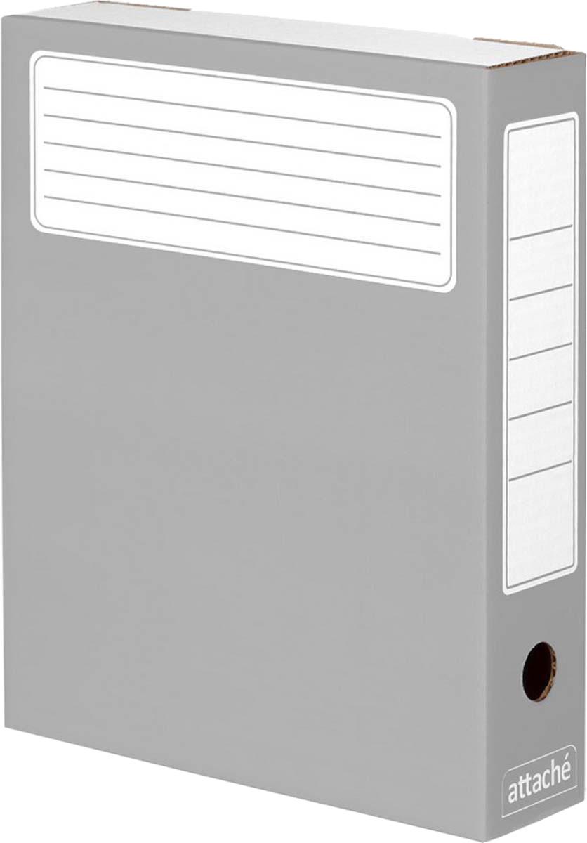 Attache Папка-регистратор А4 обложка 75 мм цвет серый 5 шт