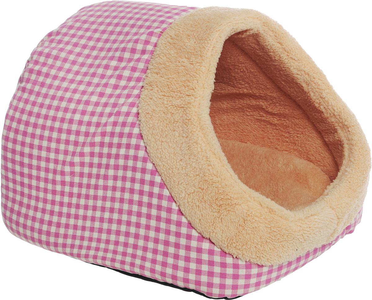 Лежак-домик №1 Фэшн, цвет: розовый, 45 х 36 х 36 см810975_розовыйЛежак-домик №1 Фэшн выполнен из легкого коротковорсового меха. Подходит для маленьких собак и кошек.