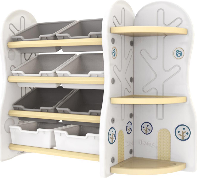 Ifam Стеллаж для игрушек DesignToy-5 цвет бежевый