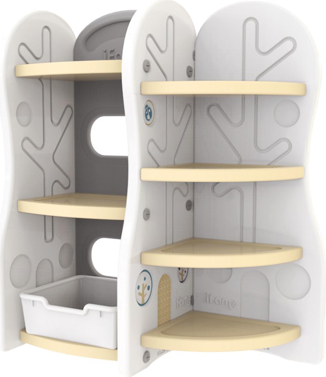 Ifam Стеллаж для игрушек DesignToy-7 цвет бежевый детские игрушки
