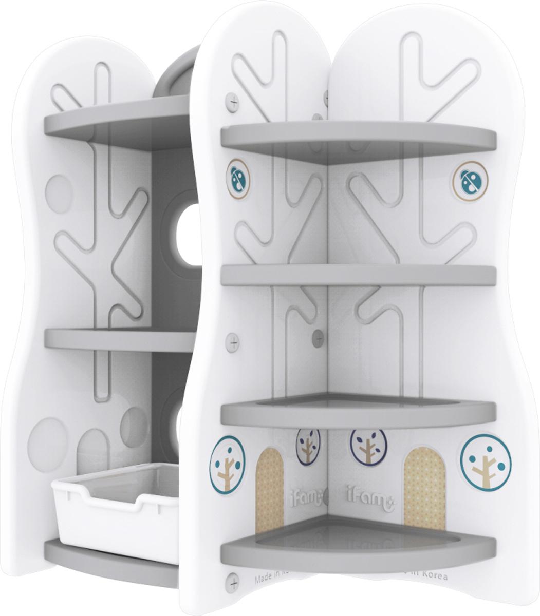 Ifam Стеллаж для игрушек DesignToy-7 цвет серый