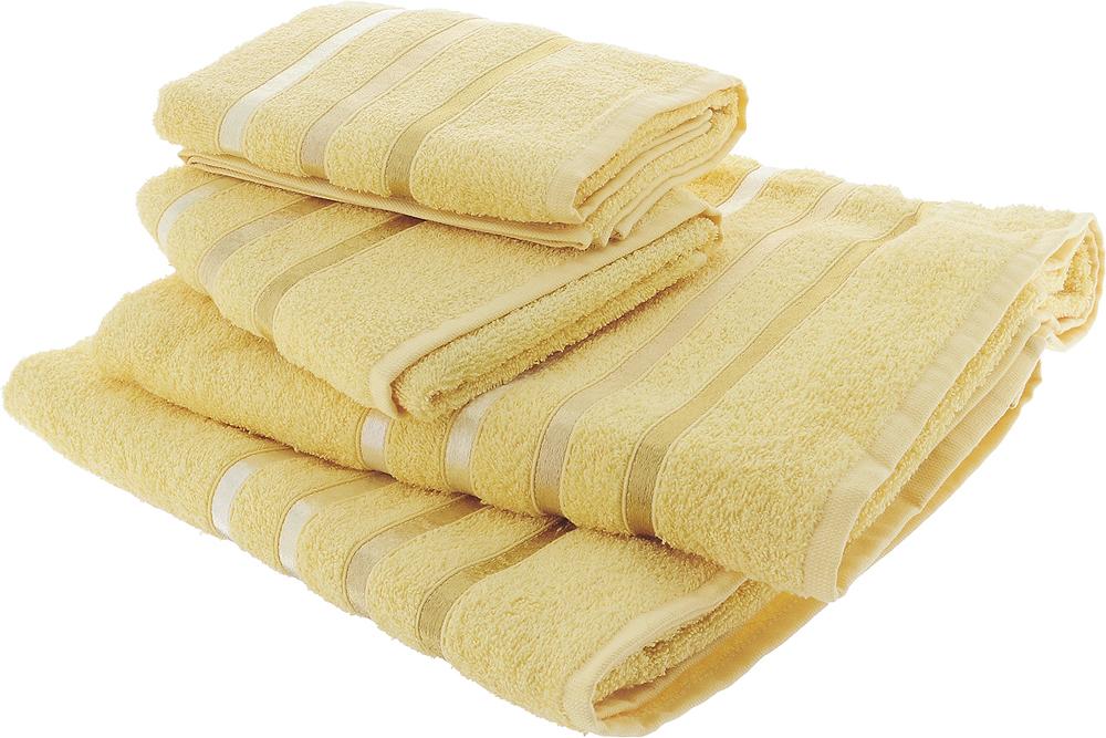 """Набор полотенец Karna """"Bale"""" изготовлен из высококачественных хлопковых нитей.  Хлопковые нити прядутся из длинных волокон. Длина волокон хлопковой нити влияет на свойства ткани, чем длиннее волокна, тем махровое изделие прочнее, пушистее и мягче на ощупь.  Также махровое изделие отлично впитывает воду и быстро сохнет. На впитывающие качества махры (ее гигроскопичность) влияет состав волокон. Махра абсолютно не аллергенна, имеет высокую воздухопроницаемость и долгий срок использования ткани. Отличительной особенностью данной модели является её оригинальный дизайн и подарочная упаковка. В наборе: 2 банных полотенца: 70 x 140 см 2 полотенца для лица и рук: 50 х 80 см"""