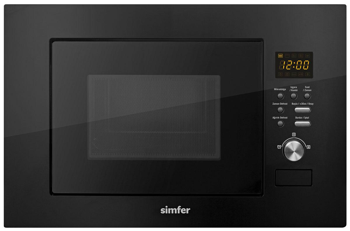 Simfer MD 2320, Black микроволновая печь встраиваемая