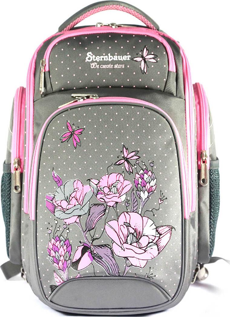 Sternbauer Рюкзак школьный SB с мешком для обуви цвет серый 7303