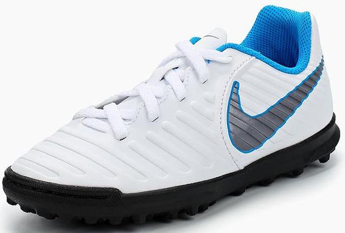 Бутсы для мальчика Nike Jr Legendx 7 Club Tf, цвет:  белый.  AH7261-107.  Размер 12C (28,5) Nike