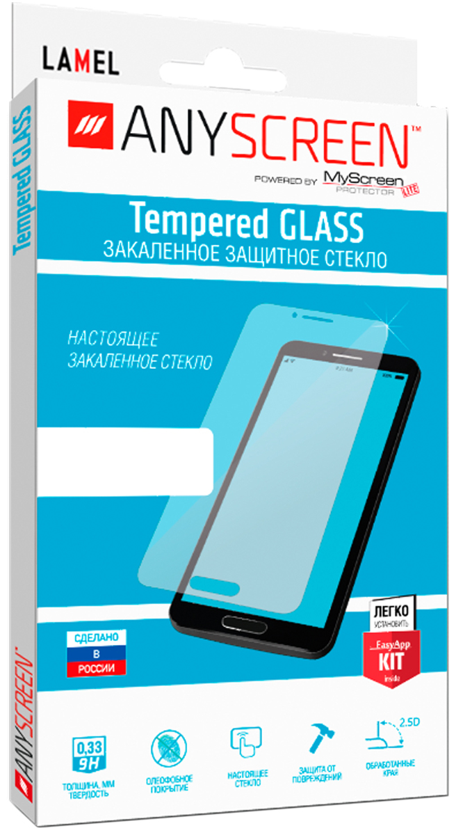 AnyScreen Tempered Glass защитное стекло для Huawei Honor 6A, Transparent glasto durable organic tempered glass screen guard film for iphone 5 transparent