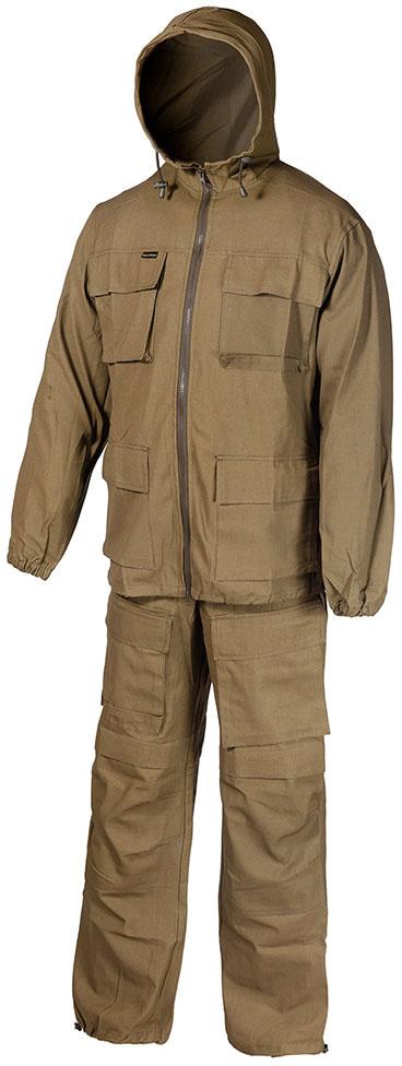 Костюм рыболовный мужской Huntsman Егерь: куртка, брюки, цвет: хаки. egp_100-521. Размер 48/50