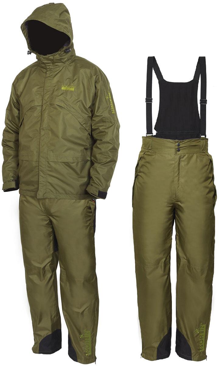 Костюм рыболовный мужской Norfin Shell 2: куртка, брюки, цвет: зеленый. 515106. Размер 3XL (64/66)