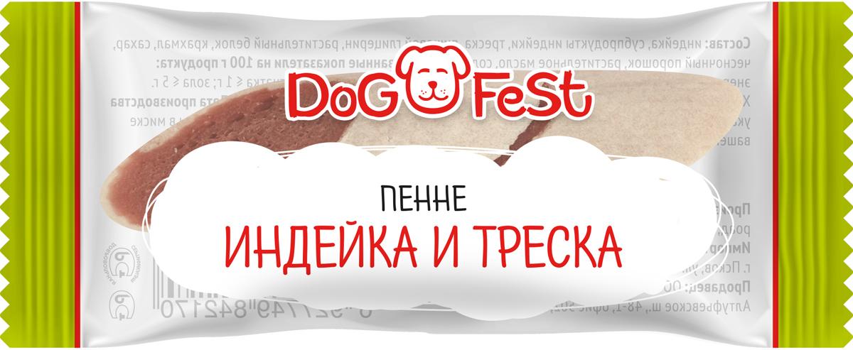 """Лакомство для собак Dog Fest """"Пенне с индейкой и треской"""", 20 шт по 6 г"""