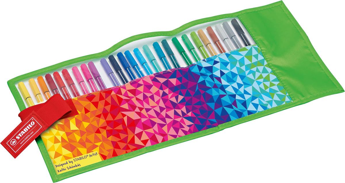 STABILO Набор фломастеров Pen 68 Fan 25 цветов stabilo набор фломастеров pen 68 green editional 10 цветов