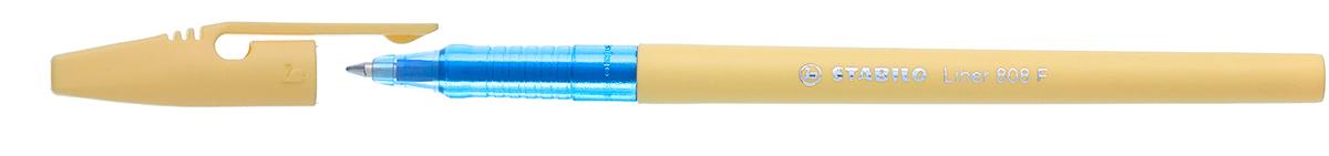 STABILO Ручка шариковая Liner Pastel 808 f синяя, цвет корпуса ванильный stabilo ручка шариковая liner 808 цвет чернил зеленый