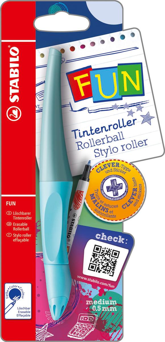 STABILO Роллер Fun синий, цвет корпуса: голубой -  Ручки