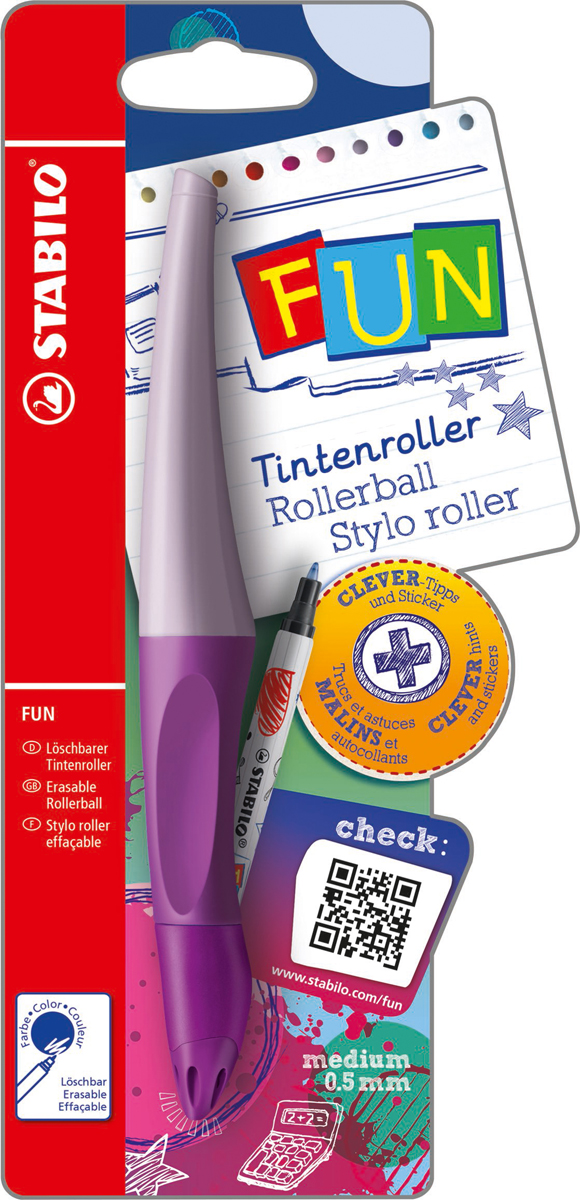 STABILO Роллер Fun синий, цвет корпуса: лавандовый -  Ручки