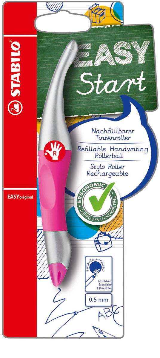 STABILO Роллер Easyoriginal Metallic для правшей, цвет корпуса неоновый розовый -  Ручки