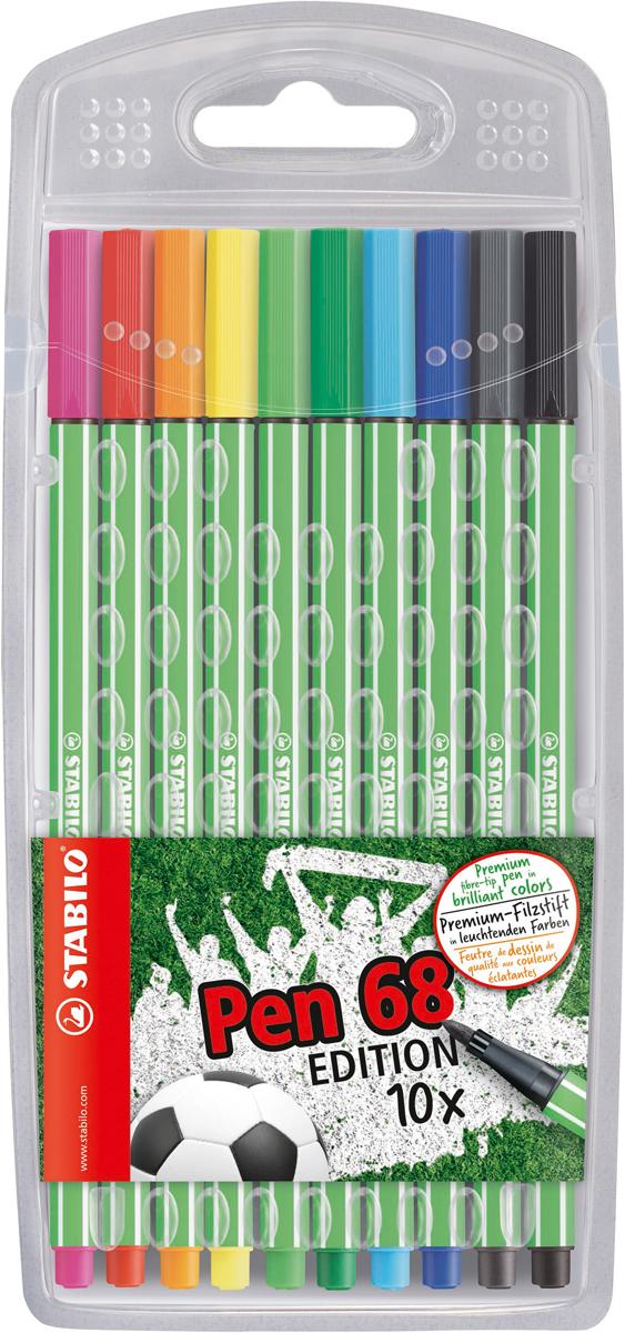 STABILO Набор фломастеров Pen 68 Green Editional 10 цветов stabilo набор фломастеров pen 68 green editional 10 цветов