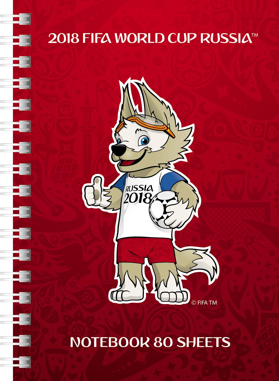 FIFA-2018 Блокнот ЧМ по футболу 2018 Талисман цвет красный 80 листов 80ЗКт6В1гр_17988