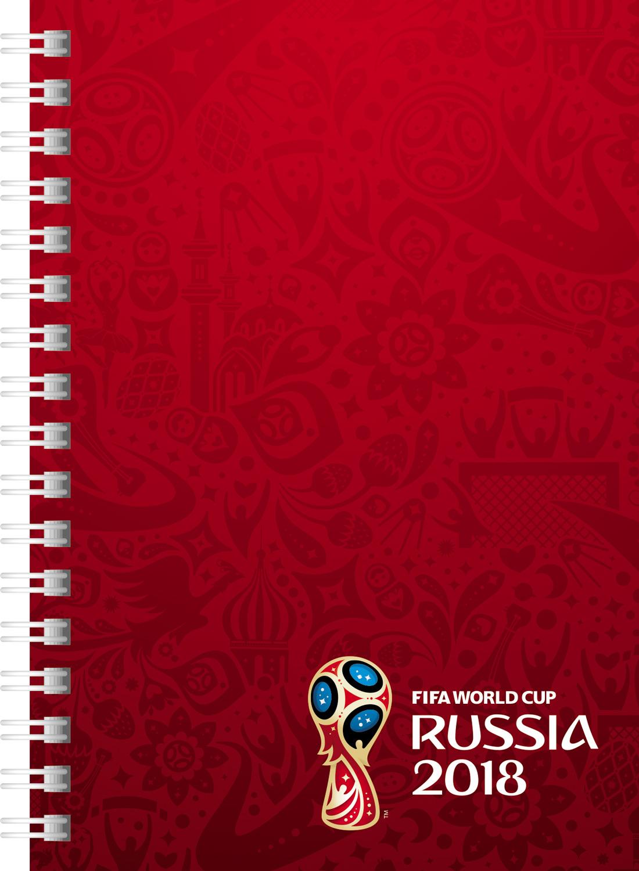 цена FIFA-2018 Записная книжка ЧМ по футболу 2018 Эмблема цвет красный 80 листов 80ЗКт6В1гр_17206