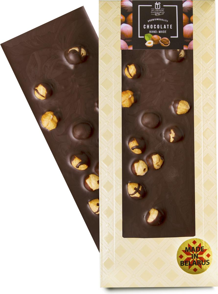 VIP-Present Chocolatier Какао с фундуком шоколад темный 48,5%, 100 г