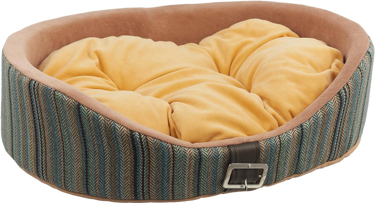 Лежак для животных Happy Puppy Баунти, цвет: мультиколор, желтый, 48 x 39 x 15 см