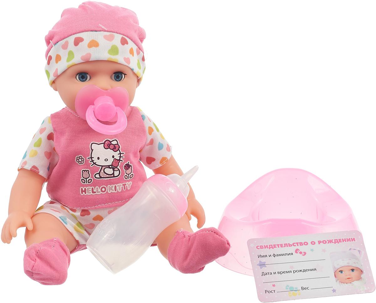 Фото Карапуз Пупс Hello Kitty c аксессуарами 25 cм 246063, цвет: розовый