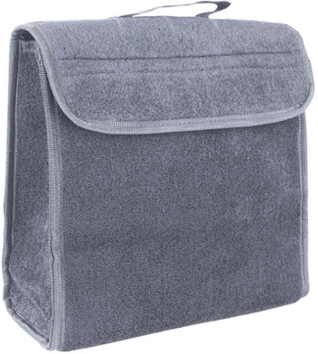 Купить Органайзер в багажник iSky , войлочный, цвет: черный, 30 x 30 x 15 см. iOR-1GR