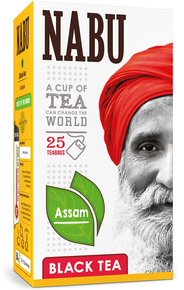 Nabu Black Tea Assam чай черный в пакетиках, 25 шт cofco pu er чай сырье чай в длинном индийский чай чай торт 357g