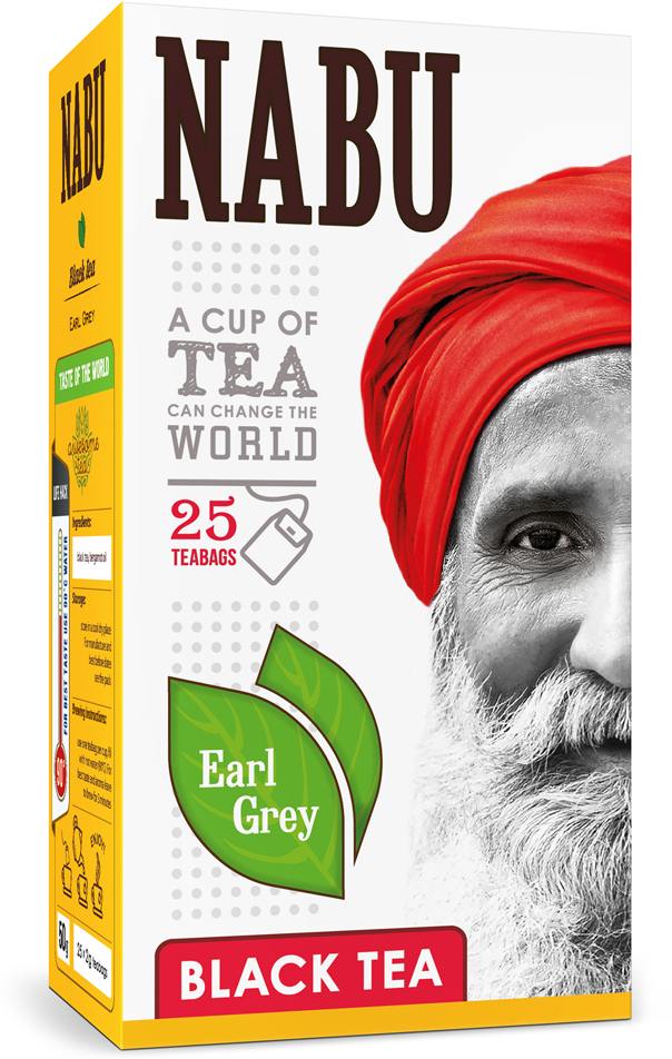 Nabu Black Tea Earl Grey чай черный в пакетиках, 25 шт краска фасадная dulux bindo facade bw в д 2 5л белая