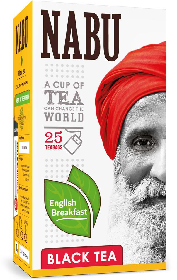 Nabu Black Tea English Breakfast чай черный в пакетиках, 25 шт twinings english breakfast tea черный чай в пакетиках 25 шт