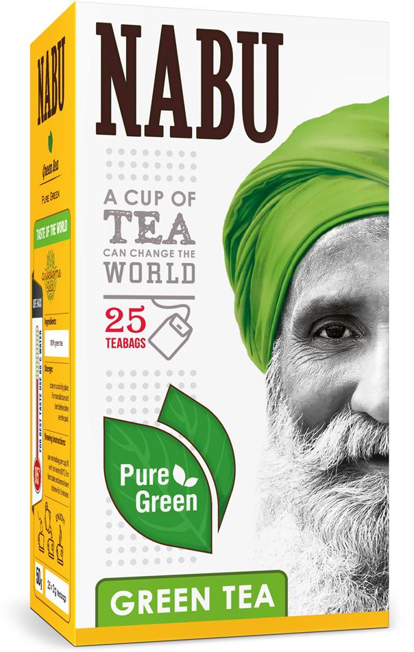 Nabu Green Tea Pure Green чай зеленый в пакетиках, 25 шт зелёный чай green tea hem 25 шт 1269727