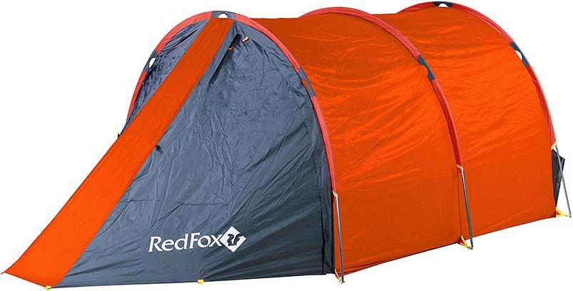 Палатка Red Fox Fox Cave 4, 4-х местная, цвет: оранжевый скакалка скоростная proxima crossfit jr 7001 r red