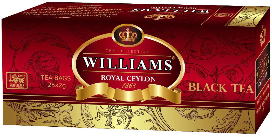 Williams Royal Ceylon чай черный, 25 шт new aeroclassics ceylon airlines n64696 1 200 b720