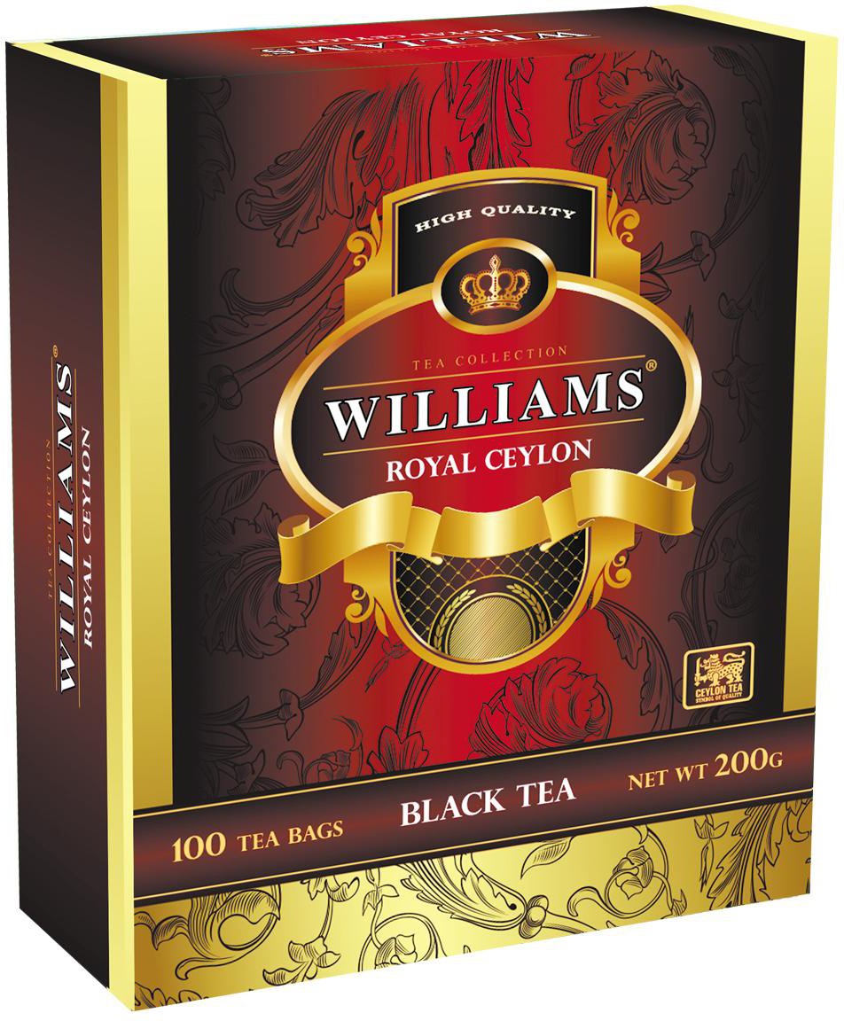 Williams Royal Ceylon чай черный, 100 шт williams wilson куртка