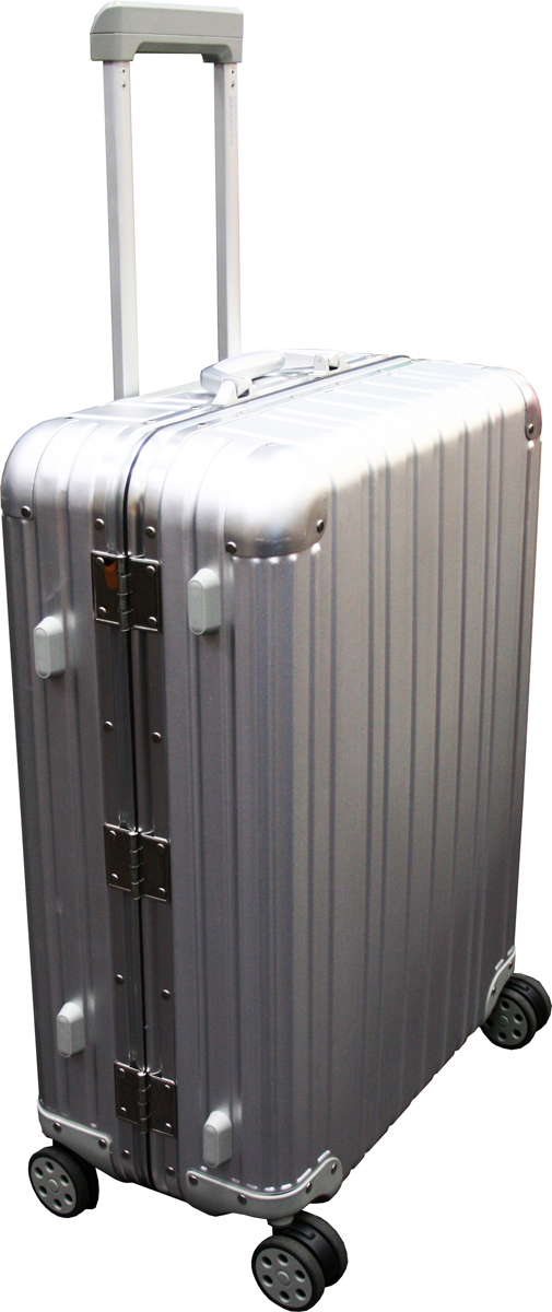 Чемодан Proffi, цвет: серый металлик, 66,6 х 47,5 х 24,5 см, 80 л. PH8708 чемодан proffi ретро цвет серый 45 л