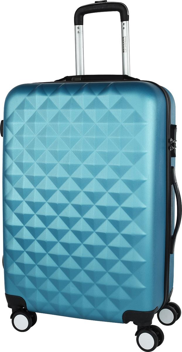 Чемодан Proffi, со встроенными весами, цвет: темно-синий, 43 х 30 х 67, 86 л чемодан proffi travel чемодан