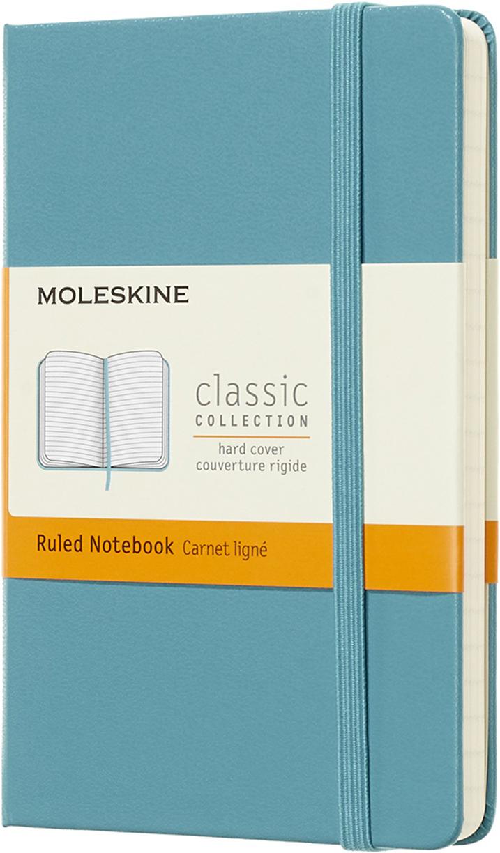 Moleskine Блокнот Classic Pocket 9 x 14 см 96 листов в линейку цвет голубой