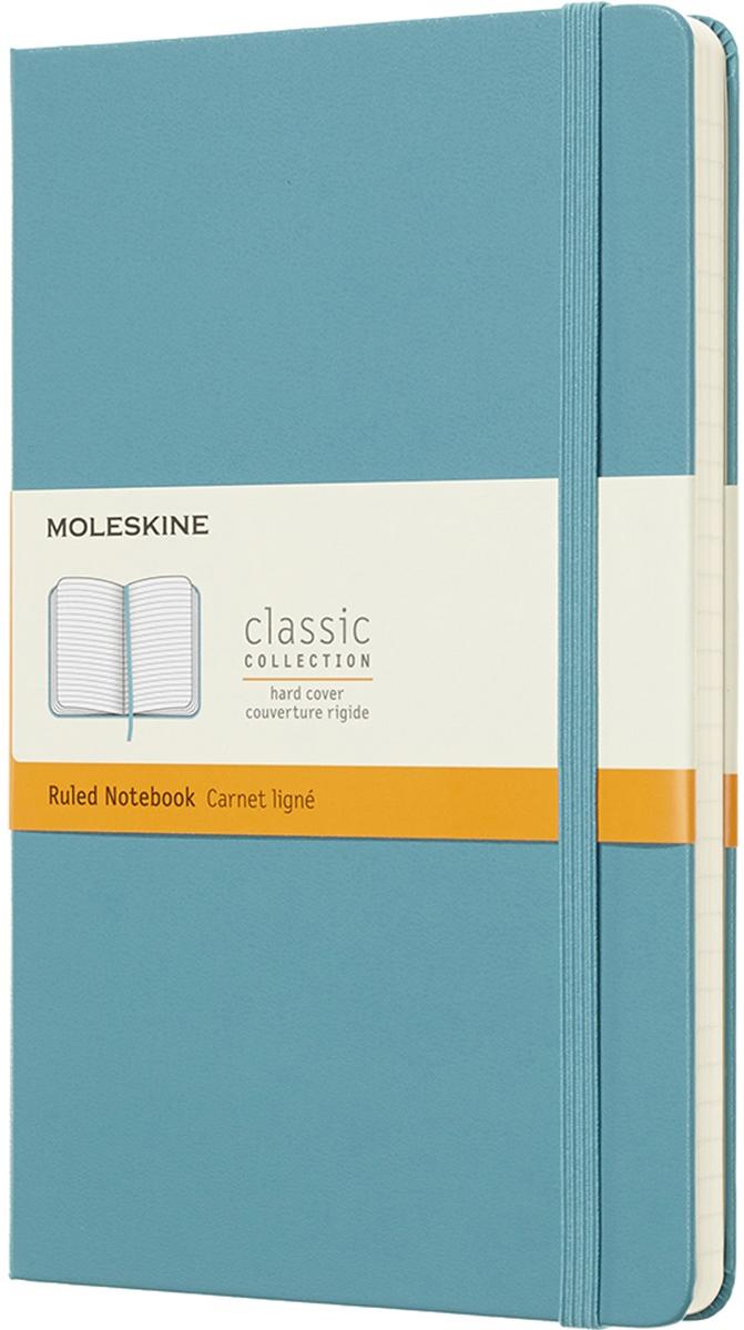Moleskine Блокнот Classic Large 13 x 21 см 120 листов в линейку цвет голубой