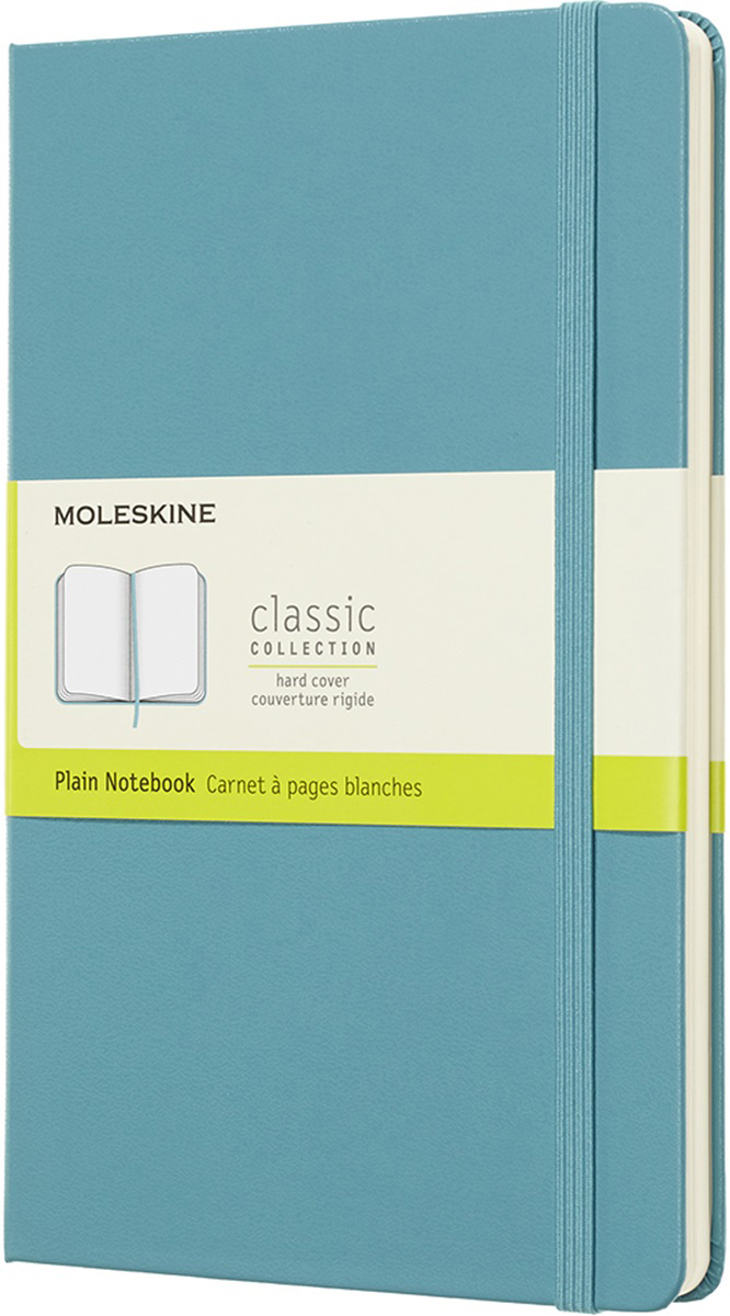 Moleskine Блокнот Classic Large 13 x 21 см 120 листов нелинованный цвет голубой