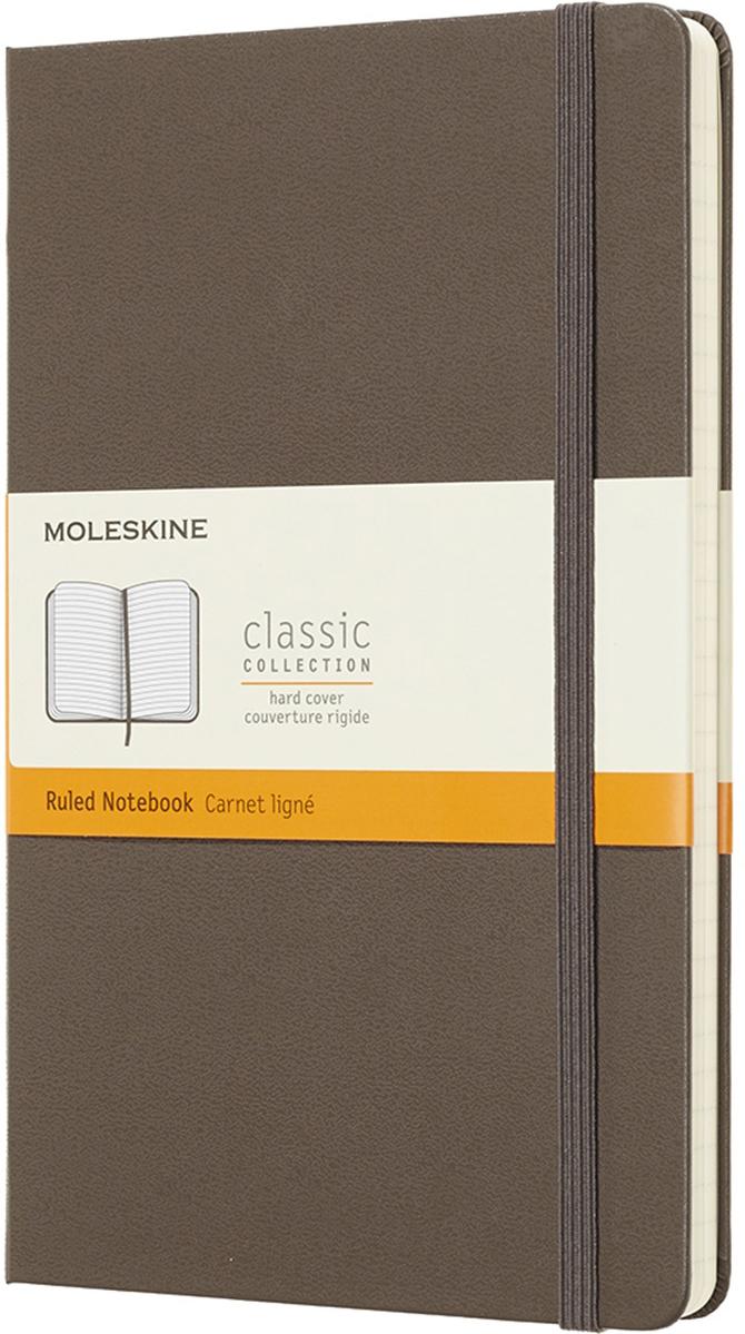 Moleskine Блокнот Classic Large 13 x 21 см 120 листов в линейку цвет коричневый