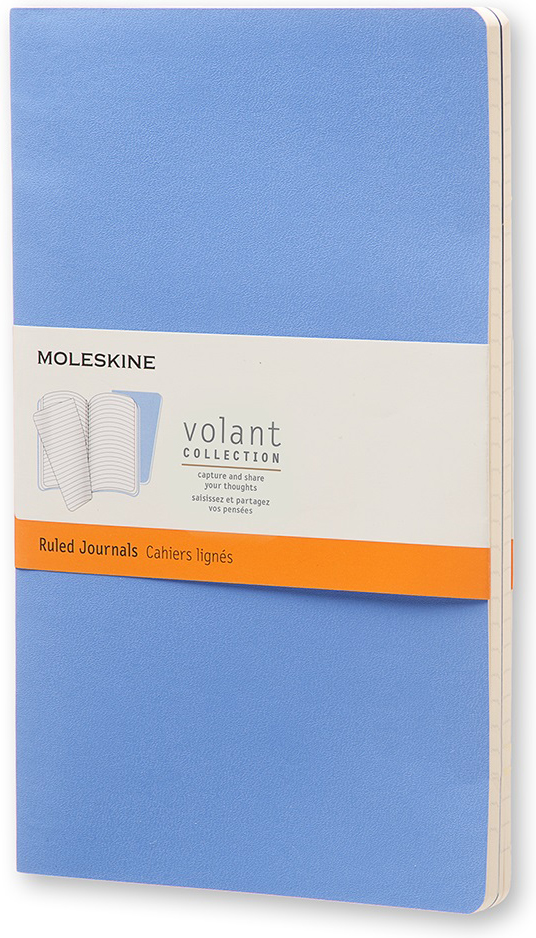 Moleskine Блокнот Volant Large 13 x 21 см 48 листов в линейку цвет синий 2 шт
