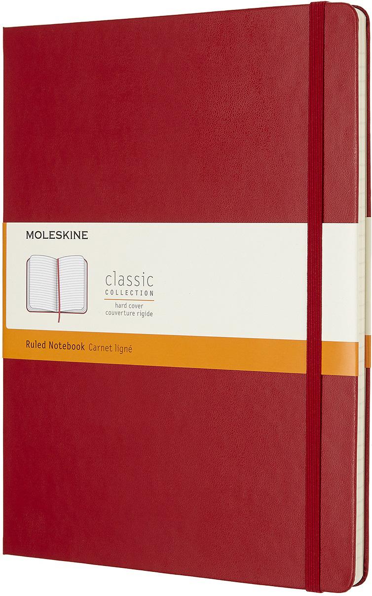 Moleskine Блокнот Classic Xlarge 19 x 25 см 96 листов в линейку цвет красный