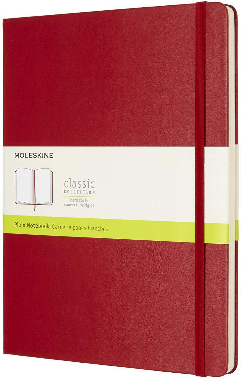Moleskine Блокнот Classic Xlarge 19 x 25 см 96 листов нелинованный цвет красный