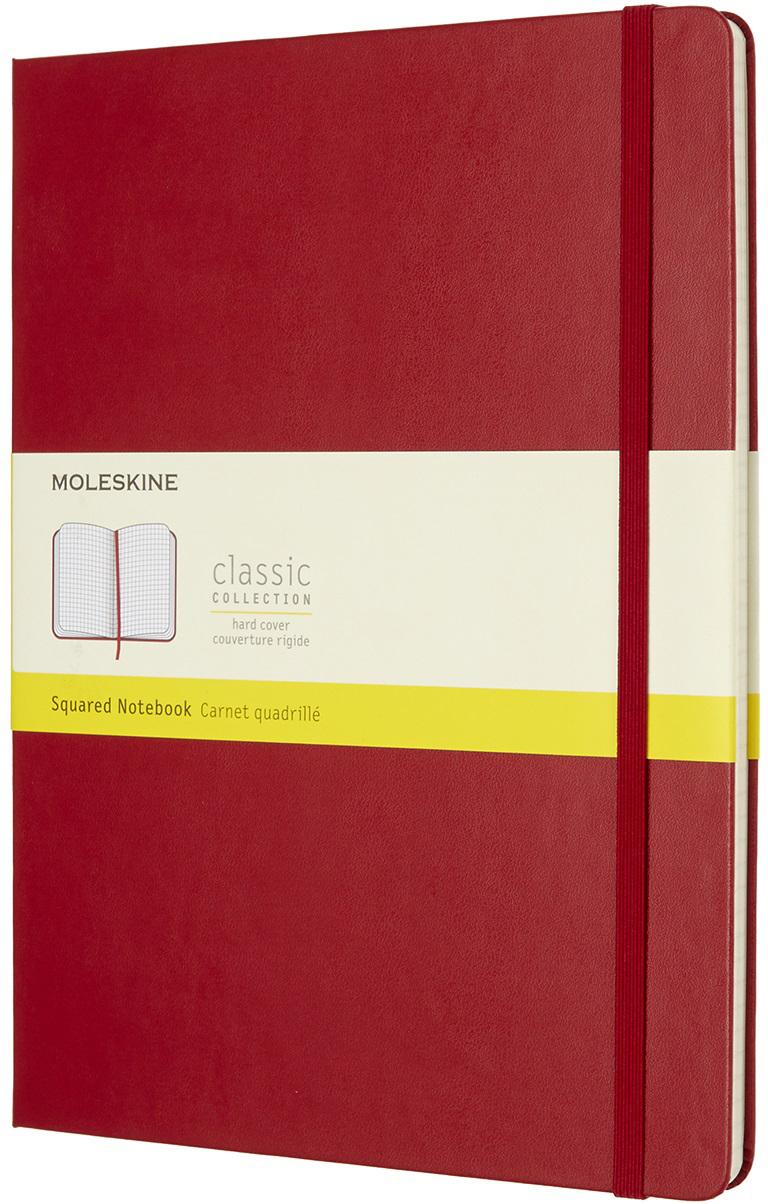 Moleskine Блокнот Classic Xlarge 19 x 25 см 96 листов в клетку цвет красный